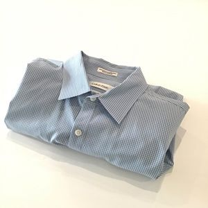 Calvin Klein Long Sleeved Slim Fit Gingham Shirt-L